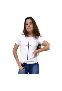 Camiseta Feminina Cellos Stripe Premium Branco