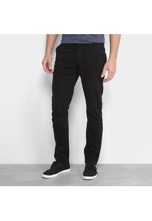 Calça De Sarja Slim Calvin Klein Color Masculina - Masculino-Preto