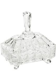 Bomboniere Cristal Lou Com Tampa 19,5 X 14,5 X 22Cm - Unissex