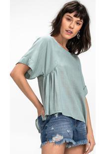 34d6425e4 Dzarm Web Store. Blusa Cropped Em Tecido Flamê De Viscose