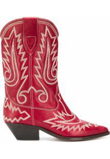 Isabel Marant Bota Duerto Texan - Vermelho