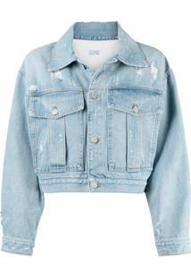 Givenchy Jaqueta Jeans Cropped Com Efeito Destroyed - Azul