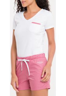 Pijama M/C E Short Tricoline Xadrez - Branco 2 - M