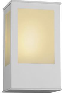 Arandela Em Alumínio Com Vidro Bolt 20X12,5Cm Branca