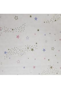Kit 3 Rolos De Papel De Parede Fwb Fundo Bege Com Estrelas Coloridas