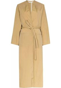 Kassl Editions Trench Coat Com Transpasse Frontal - Marrom