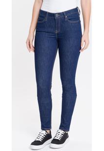 Calça Jeans Feminina Five Pockets Super Skinny Cintura Média Azul Marinho Calvin Klein - 34