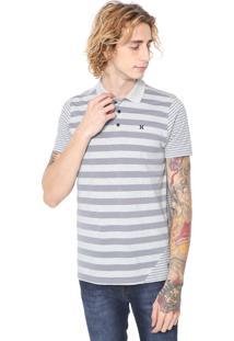 Camisa Polo Hurley Reta Optic Cinza