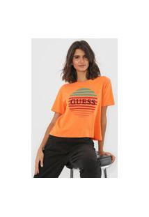 Camiseta Guess Sunset Laranja