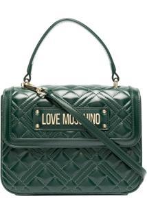 Love Moschino Bolsa De Mão Matelassê - Verde