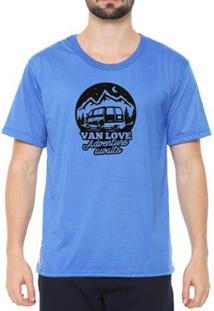 Camiseta Talismã Store Eco Canyon Van Love Masculina - Masculino-Azul