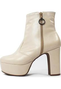 Bota Damannu Shoes Nancy Feminina - Feminino-Nude