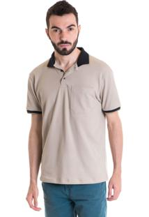 Camisa Polo Masculina Manga Curta 348046 Bege