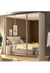 Guarda-Roupa Casal 3 Portas Correr 3 Espelhos 100% Mdf Rc3003 Noce - Nova Mobile