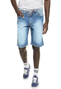 Bermuda Jeans Element Reta Pulaski Walk Azul