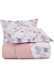 Jogo De Colcha Queen Altenburg Home Collection 180 Fios Red Velvet - Rosa