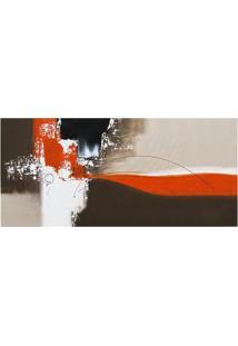 Quadro Artesanal Abstrato Laranja 60X130 Cm