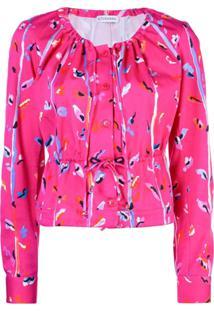 Altuzarra Blusa Com Estampa Abstrata - Rosa