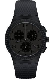 96d7a8afd02 ... Relógio Swatch Masculino Borracha Preta - Susb104