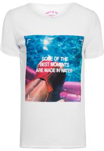 Camiseta Masculina Made In Water - Branco