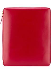 Comme Des Garçons Wallet Bolsa-Carteira De Couro 'Classic Plain' - Vermelho