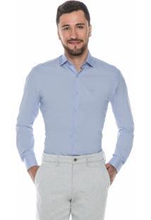 Camisa Social Azul Hugo Rossi - Masculino