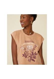 Amaro Feminino T-Shirt Romantic, Capuccino