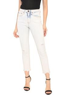 Calça Jeans Calvin Klein Jeans Slim Cropped Azul