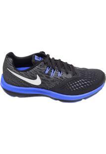 Tênis Masculino Corrida Zoom Winflo Nike Preto E Azul