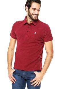 Camisa Polo Sergio K Botões Vermelha