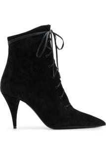 Saint Laurent Ankle Boot Kiki - Preto