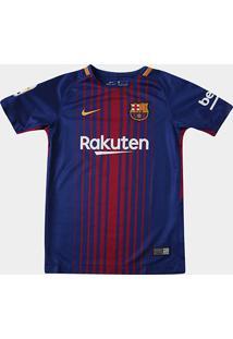 Camisa Barcelona Juvenil Home 17/18 S/Nº - Torcedor Nike - Unissex