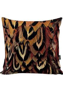 Capa Para Almofada Feathers- Preta & Amarelo Escuro-Stm Home