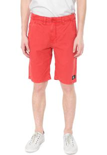 Bermuda Sarja Calvin Klein Jeans Chino Color Vermelha