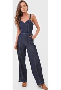 Macacão Jeans Banana Republic Pantalona Azul