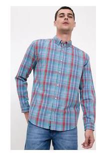 Camisa Xadrez Comfort Em Tricoline