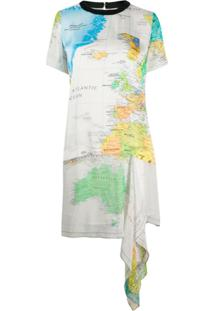 Sacai World Map Dress - Neutro