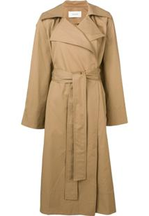 Pringle Of Scotland Trench Coat Oversized - Marrom