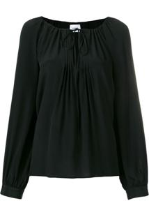 Dondup Pleated Detail Blouse - Preto