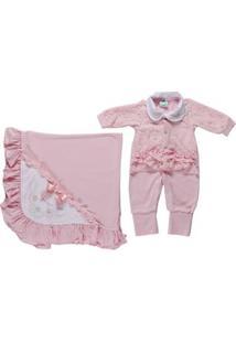 Enxoval Infantil Para Bebê Menina - Rosa