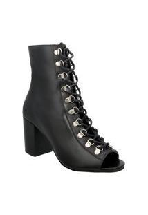 Ankle Boot Em Couro Ravy Store Preto