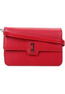 Bolsa Santa Lolla Mini Bag Caviar Feminina - Feminino-Vermelho