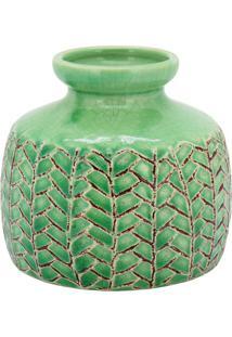 Vaso Em Cerâmica Home&Co Crispin 11,5X13Cm Verde
