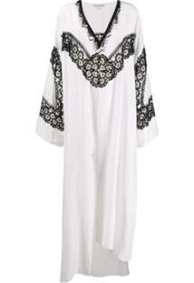 Giacobino Vestido Kaftan Gola V - Branco