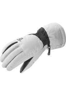 Luva Gloves Force Feminino Branca Tam. G - Salomon