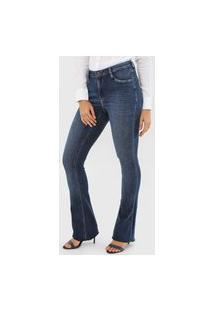 Calça Jeans Dudalina Bootcut Estonada Azul
