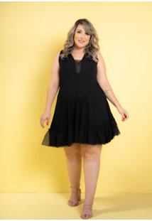 Vestido Curto Dalila Black Plus Size