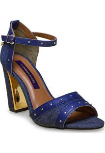 Sandalia Fem Cravo E Canela 147101/1 Jeans Azul