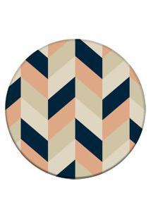 Tapete Love Decor Redondo Wevans Chevron Multicolorido 84Cm