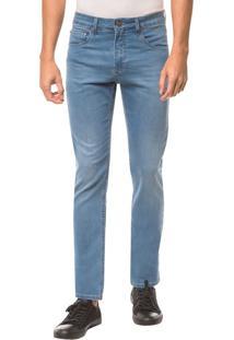 Calça Jeans Five Pockets Ckj 026 Slim - Azul Médio - 36